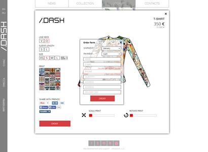 Интернет-магазин модной одежды бренда Slash-dot-dash